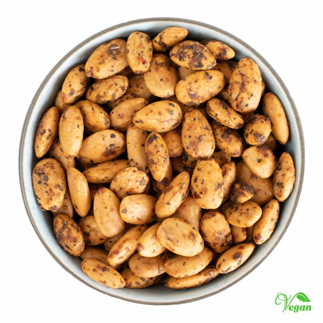Vangsgaard Tørristede mandler med sommerurter og chili, 100g